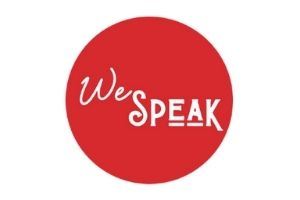 we speak logo